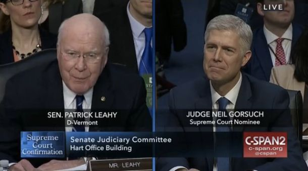 Neil Gorsuch, Patrick Leahy