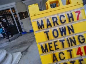 Townshend town meeting