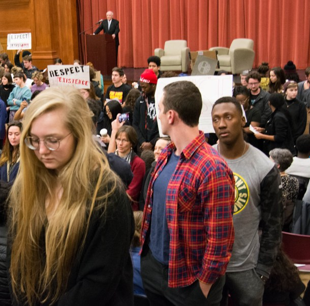 School Students Take To Streets To Protest Against Gun: Middlebury College Students Block Controversial Speaker