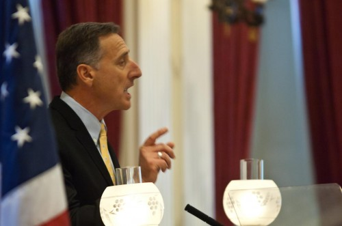 Gov. Peter Shumlin delivering his 2012 state of the state address. VTD/Josh Larkin