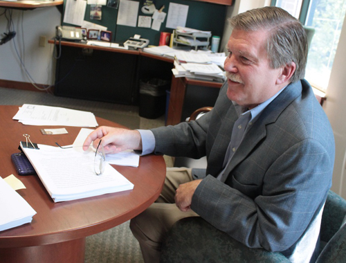 Vermont State Employees Credit Union CEO Steve Post in his office in Montpelier. VTD Photo/Taylor Dobbs