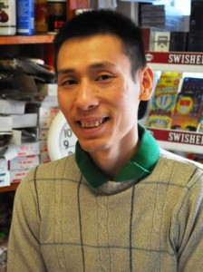Loc Tran (Anthony) at Thai Phat Oriental Food Market, the popular Asian store in Burlington's Old North End. Photo by Dirk Van Susteren