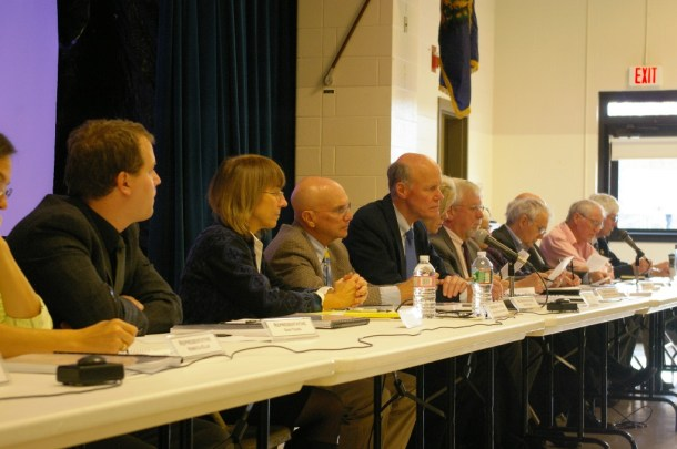 The House Committees on Commerce and Economic Development and Natural Resources and Energy hear testimony on Monday from a range of local leaders and residents on how the region should proceed after Vermont Yankee closes its doors. Photo by Andrew Stein/VTDigger