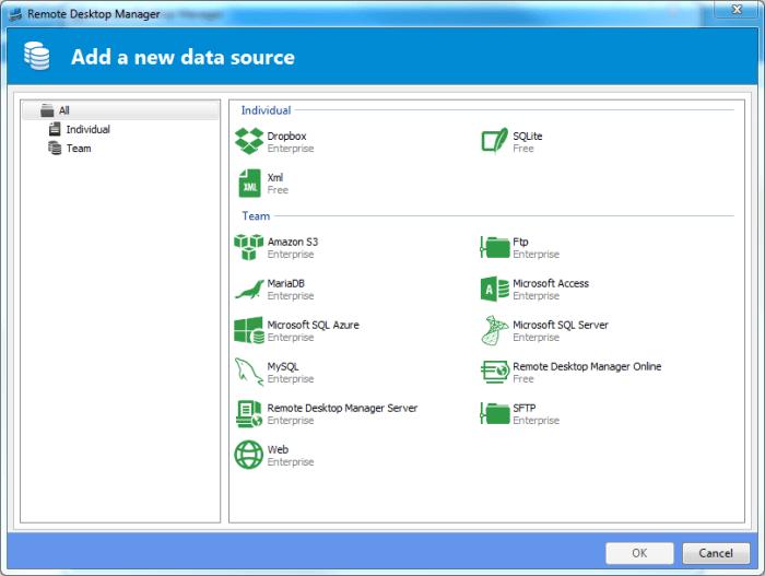 Remote desktop Manage - Data Source