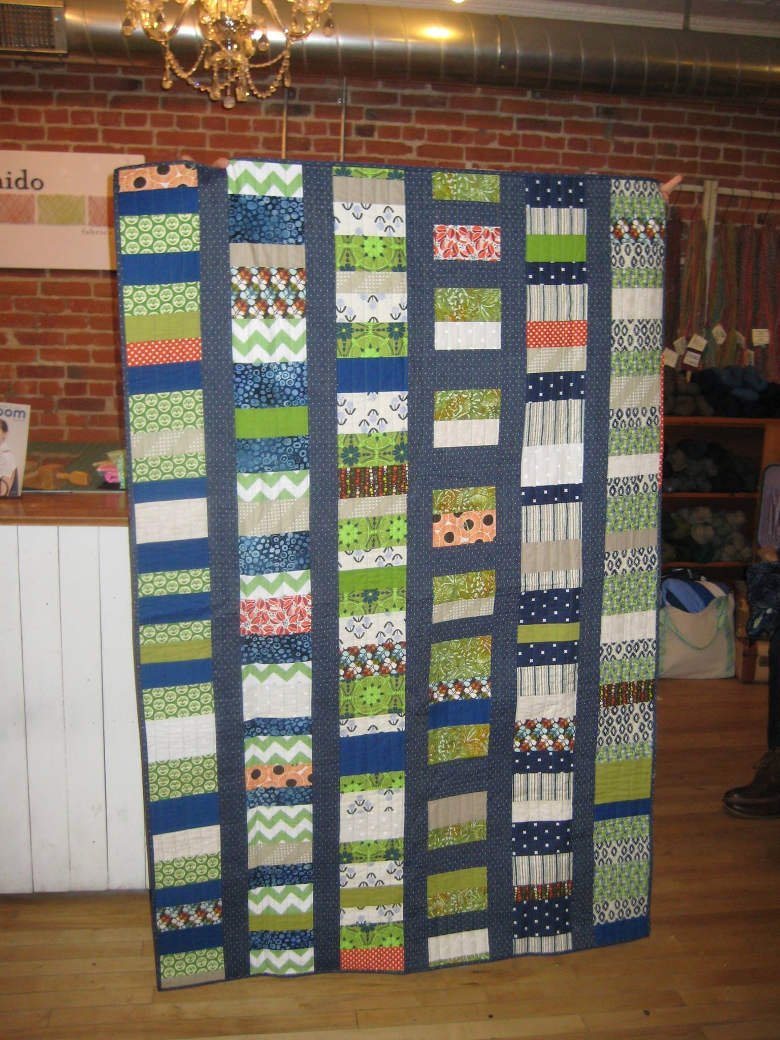 Anya's coin quilt that doubled as a #mightylucky challenge