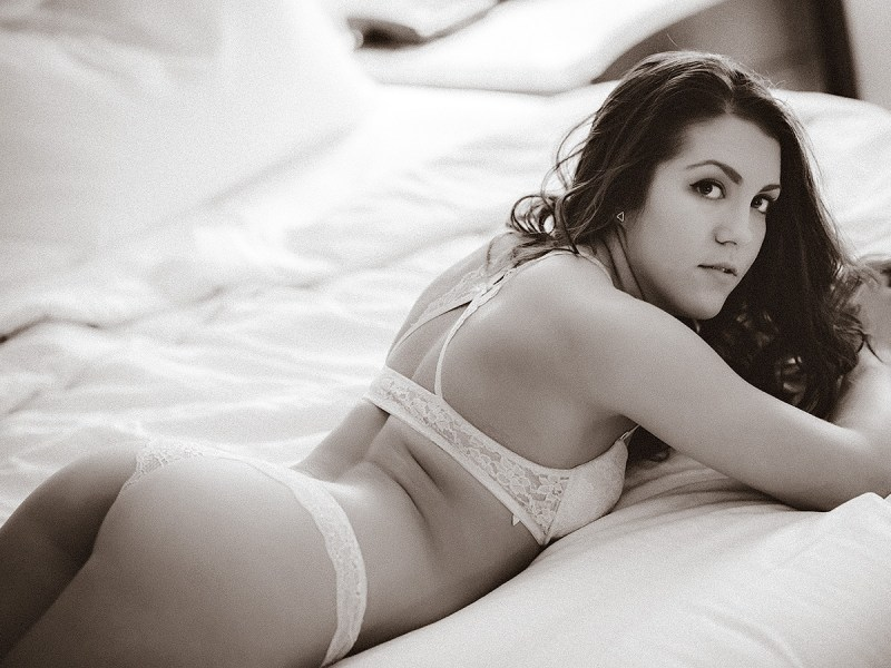 Victoria - sepia toned lingerie photos