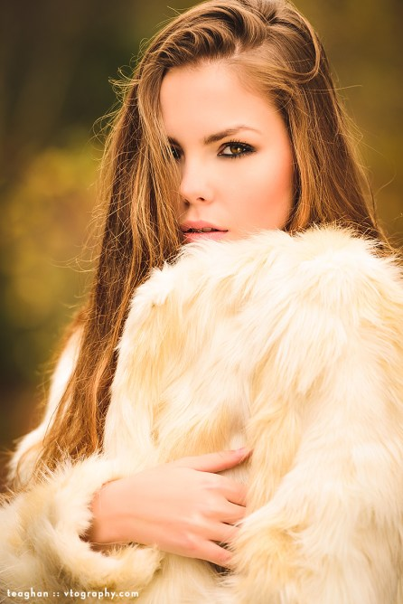 Teaghan in fur from Forever 21