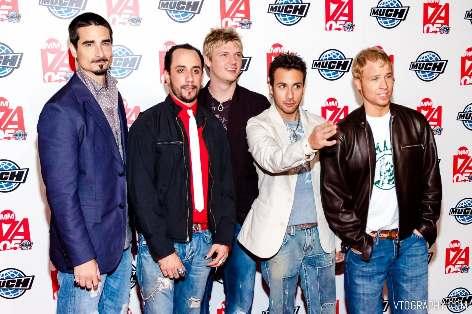 Backstreet Boys at the 2005 Much Music Video Awards, Toronto, on June 19, 2005