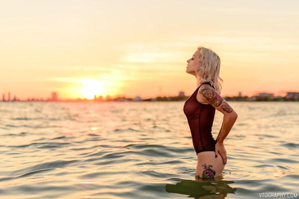 Nova Scotia model The Ka photographed nude at the beach