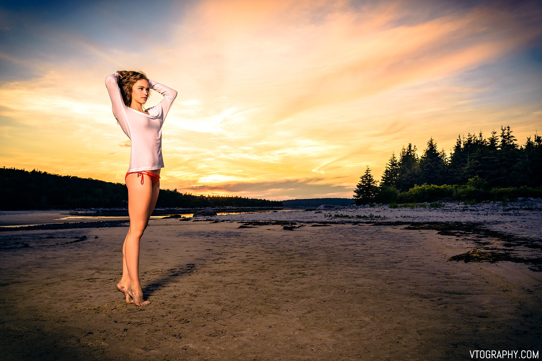 Carters Beach, Nova Scotia photo shoot with model Kathryn