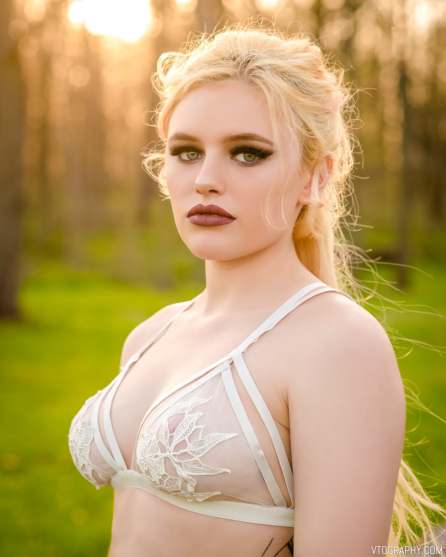 Outdoor portraits with model Willow C wearing Sirens bralette