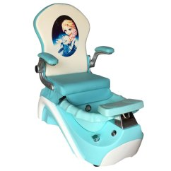 Child Pedicure Chair Magellan Fishing Elsa Anna Kid Blue V Town Decor