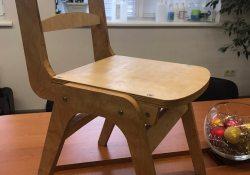 Дизайнерский стул из фанеры