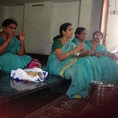 Vikasa Tarangini Training Camp in Maturu Jivan Vikas Medical Camp Testing Patients