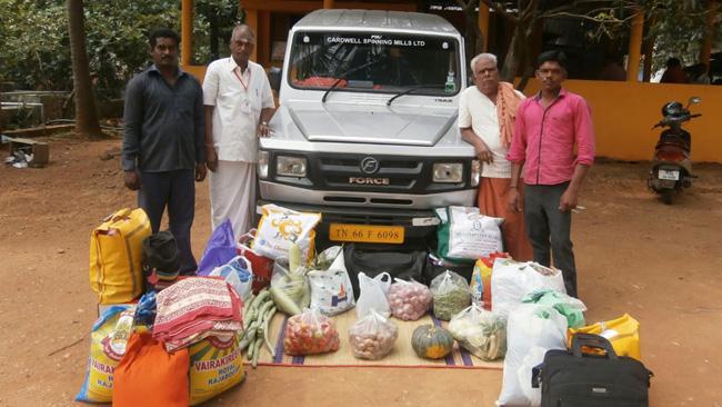 Coimbatore Vikasa Tarangini Distributed Free Food Materials in Sri Vaaraahi Asramam