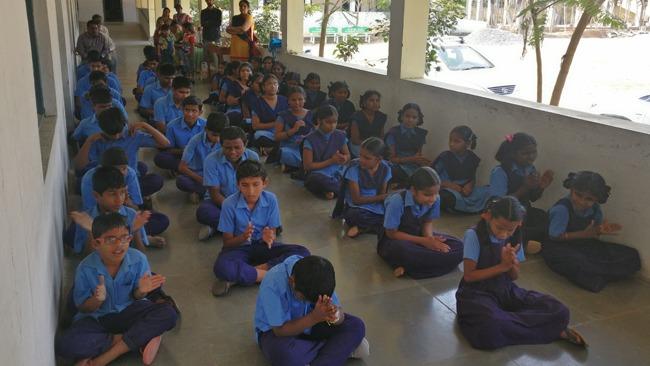 Vikasa Tarangini Karimanagar visited Government Blind School Students on World Braille Day