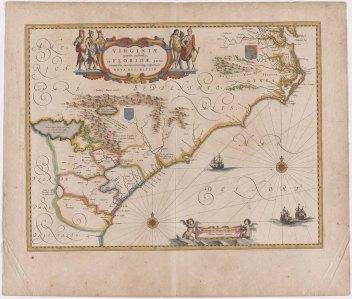 Virginiæ partis australis, et Floridæ partis orientalis, interjacentiumque regionum Nova Descriptio, c. 1640