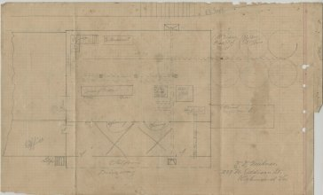 Handwritten sketch, possibly a proposed plan for the revision of the mill, n.d. (c.1917)