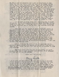 Mary Sinton Leitch to J. J. Lankes, February 1945 (2)
