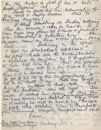 Mary Sinton Leitch to J. J. Lankes, March 1947 (2)