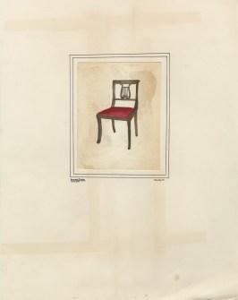 Chair wth red cushion