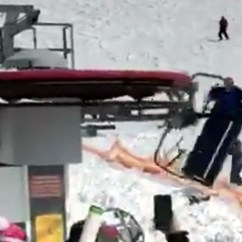 Ski Chair Lift Malfunction High Seat Beach Maintenance Failure Causes Riders To Be Flung Gudauri Resort In The Former Soviet Republic Malfunctioned And Rolled Backwards Out Of Control At Speed