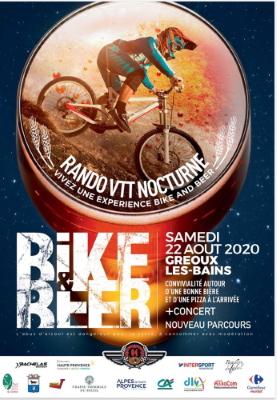 Affiche de la 4ème Bike and Beer de Gréoux-les-Bains