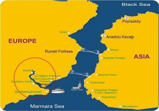 bản đồ vịnh sừng vàng