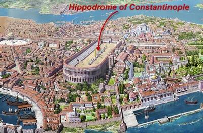 ảnh cổ về Quảng trường Hippodrome thời Byzantine