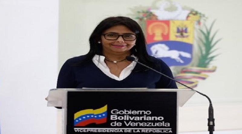 Vicepresidenta Delcy Rodríguez: Mike Pence entró en hora loca. Venezuela repudia sus declaraciones (Foto Vicepresidencia)
