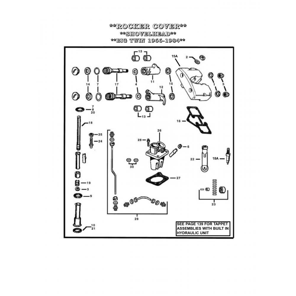 hight resolution of washer rocker arm shafts a 17450 73