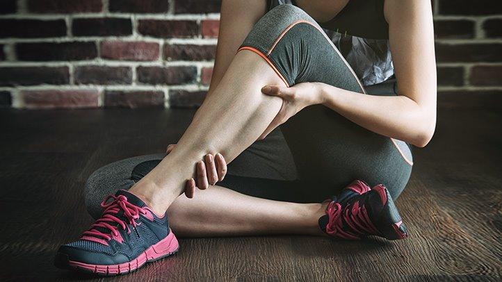 Leg cramp can be brought on by the cold, strenuous exercise, or a calcium deficiency, to name a few causes. (Image: nhsinform.scot / CC0 1.0)
