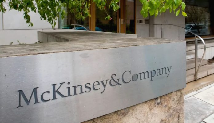 Sign outside one of the offices of McKinsey & Company.