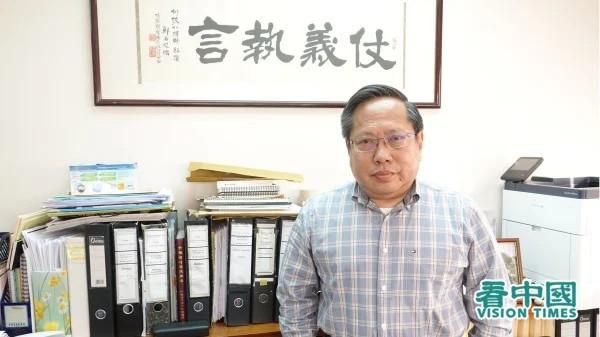 Albert Ho in his office.