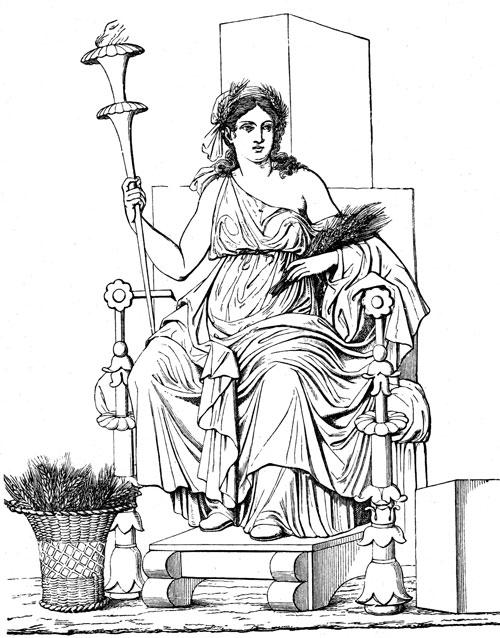 Demeter — Greek Goddess of Agriculture.