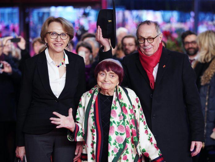 Belgian-born French film director, screenwriter, photographer, and artist Agnès Varda.