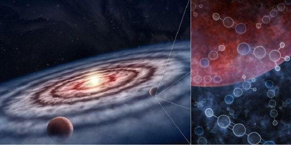 Life can come from a 'soup' of both simple and complex molecules in the vicinity of still-forming planets.