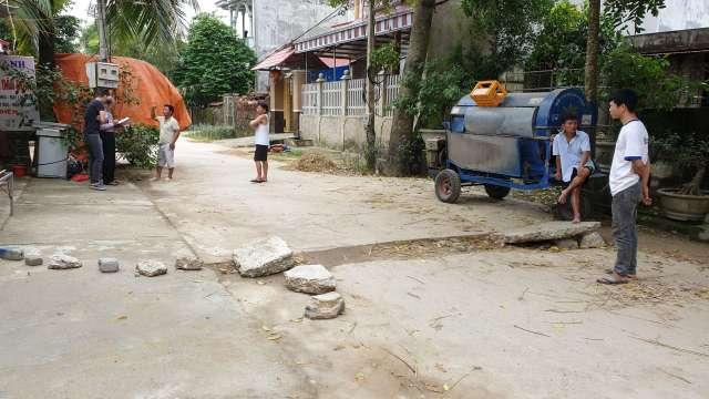 Công nghệ bức xạ từ vào cuộc xác định nguyên nhân gây ra nổ, nứt vỡ đường bê tông tại Vĩnh Yên, Vĩnh Lộc, Thanh Hóa