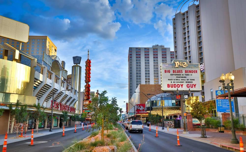 Street VUE of Las Vegas Big Blue Bender entrance.