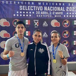 • Los artemarcialistas representaron a la Asociación de Escuelas Oficiales de Karate de San Luis Potosí y fue el primer evento presencial después de un año de ausencia. • Las competencias estuvieron bajo el coacheo de la entrenadora nacional y universitaria Lorena Mendoza Rosas.