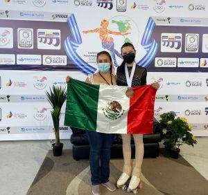 """• Además, Valentina Lomas obtuvo plata en un evento celebrado a puerta cerrada. • En el evento se compite por Clubes; San Luis Potosí logró varias medallas con las patinadoras de """"Carpa""""."""