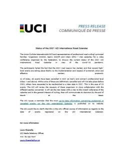 Comunicat UCI