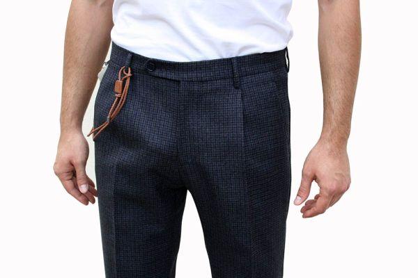 BERWICH Pantalone Lana Microfantasia