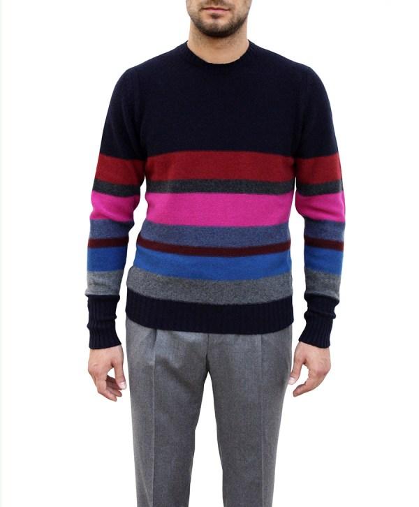 drumohr-maglia-girocollo-fantasia-colorblock