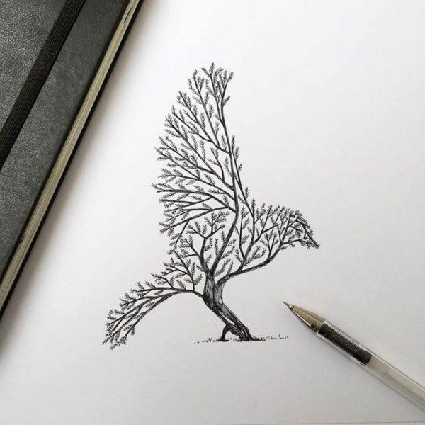 Pen & Ink Animal Illustrations Italian Artist Alfred