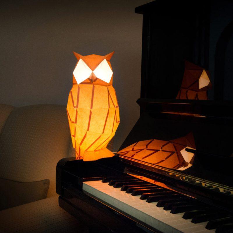 Elegant papercraft animal lamps  Vuingcom