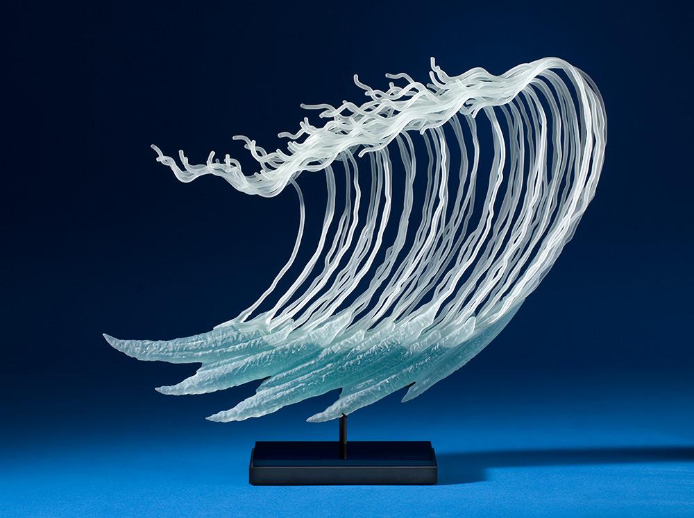 Seathemed glass sculptures by K William LeQuier  Vuingcom