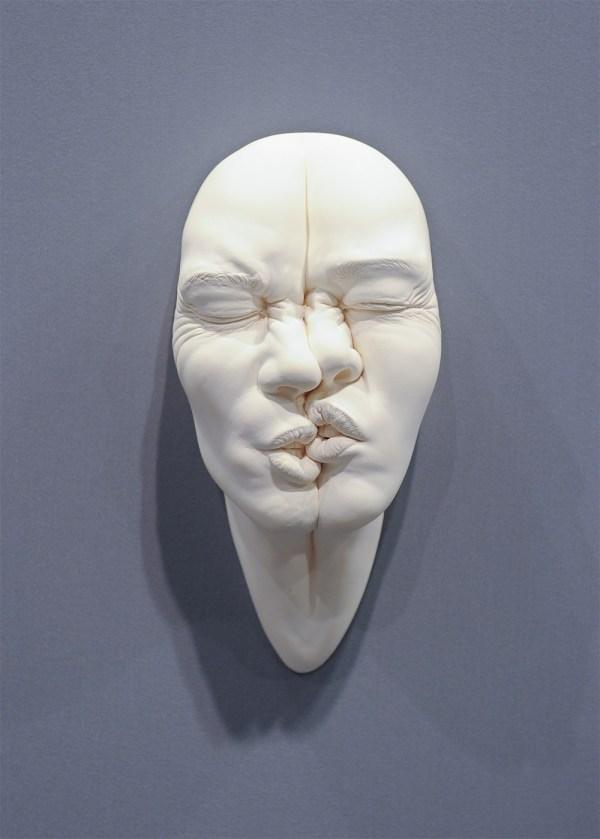 Abstract Porcelain Clay Faces Artist Johnson Tsang