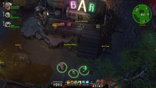 Krater bar backdrop