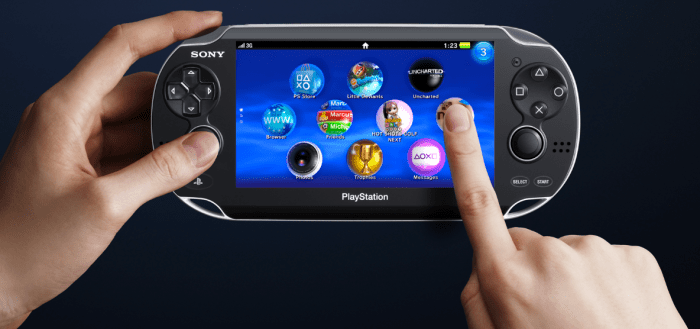 PS Vita in use